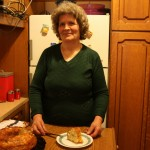 Feta pie in a cake tin by Mrs. Eleni 